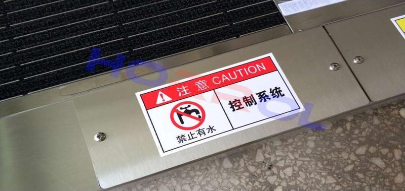 严禁在未指导情况下打开控制器,严禁鞋底清洁机控制器进水